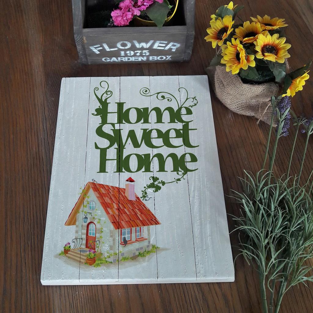 hiasan dinding poster kayu solid RUSTIC home sweet home | Shopee Indonesia