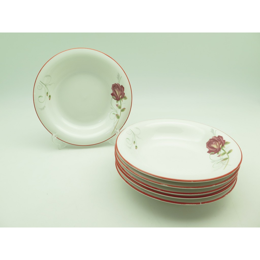 Piring Ceper 95 Golden Rose 6 Pcs Makan Shopee Indonesia Lodor Oval 12 Inci Putih P5612 Dragon Melamine Horeka