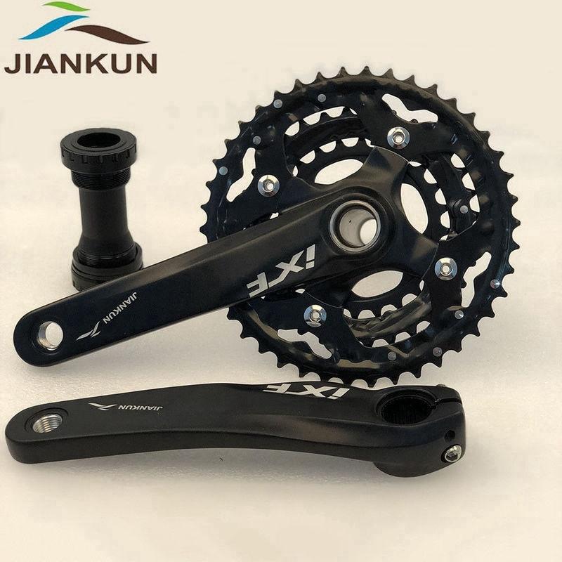 MTB Road Bike CNC Crankset 170mm 104BCD Cranks Arm /& Bottom Bracket /& Chianring