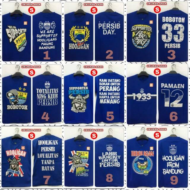 Kaos Keren Persib Bobotoh 33 Viking Blue Hooligan Salur Size S Anak Baju Distro Zuperone