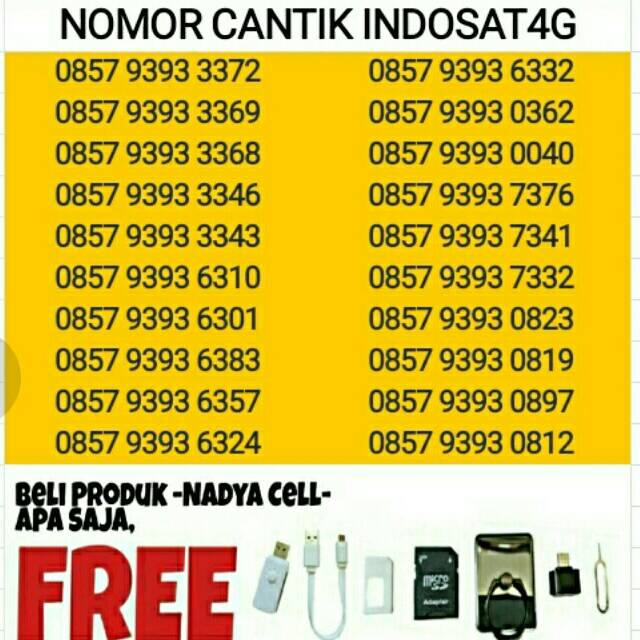 SERI SUPER XL 4G Kartu Perdana Nomor Cantik Nomer Nocan Murah | Shopee Indonesia