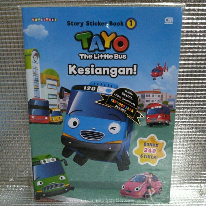 Tayo The Sticker Bus 1 Tayo The Little Bus Kesiangan By Iconix Shopee Indonesia