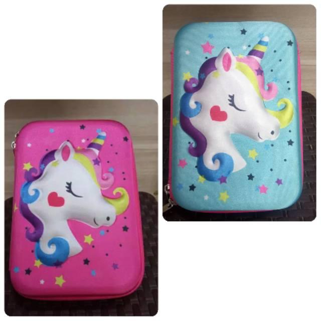 Smigle Dusgrip Kotak Pensil Sekolah Anak Perempuan Motif Unicorn Kuda Pony Little Pony Murah Trendy Shopee Indonesia