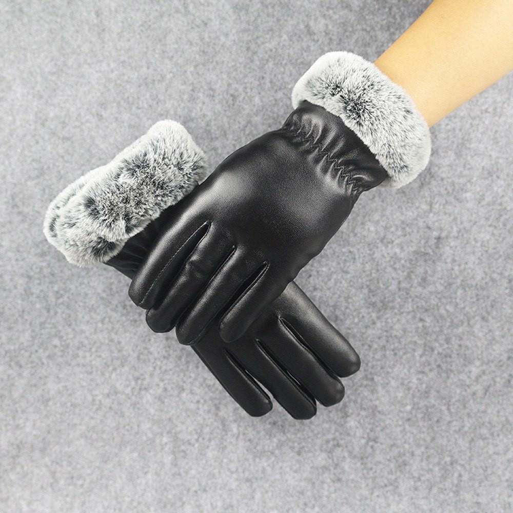 hangat rajutan sarung tangan tanpa jari-jari Bintang Hitam - International.