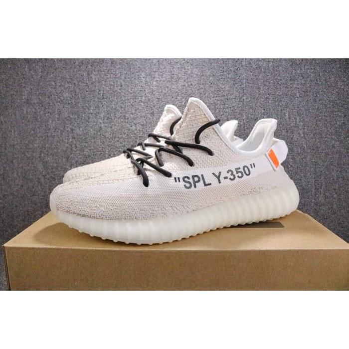 low priced 6ebe0 c2ca2 ADIDAS Yeezy Boost V2 SPLY 350 x Off White Beige High Premium Original