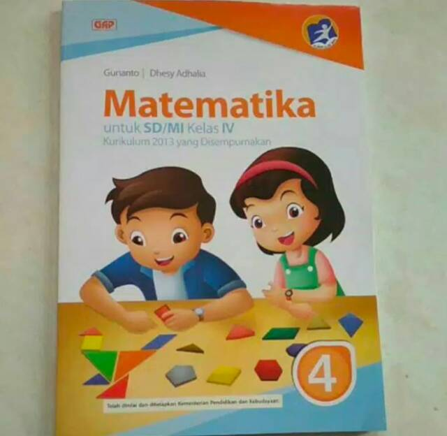Buku Matematika Kelas 4 Sd Gunanto Penerbit Gap Shopee Indonesia