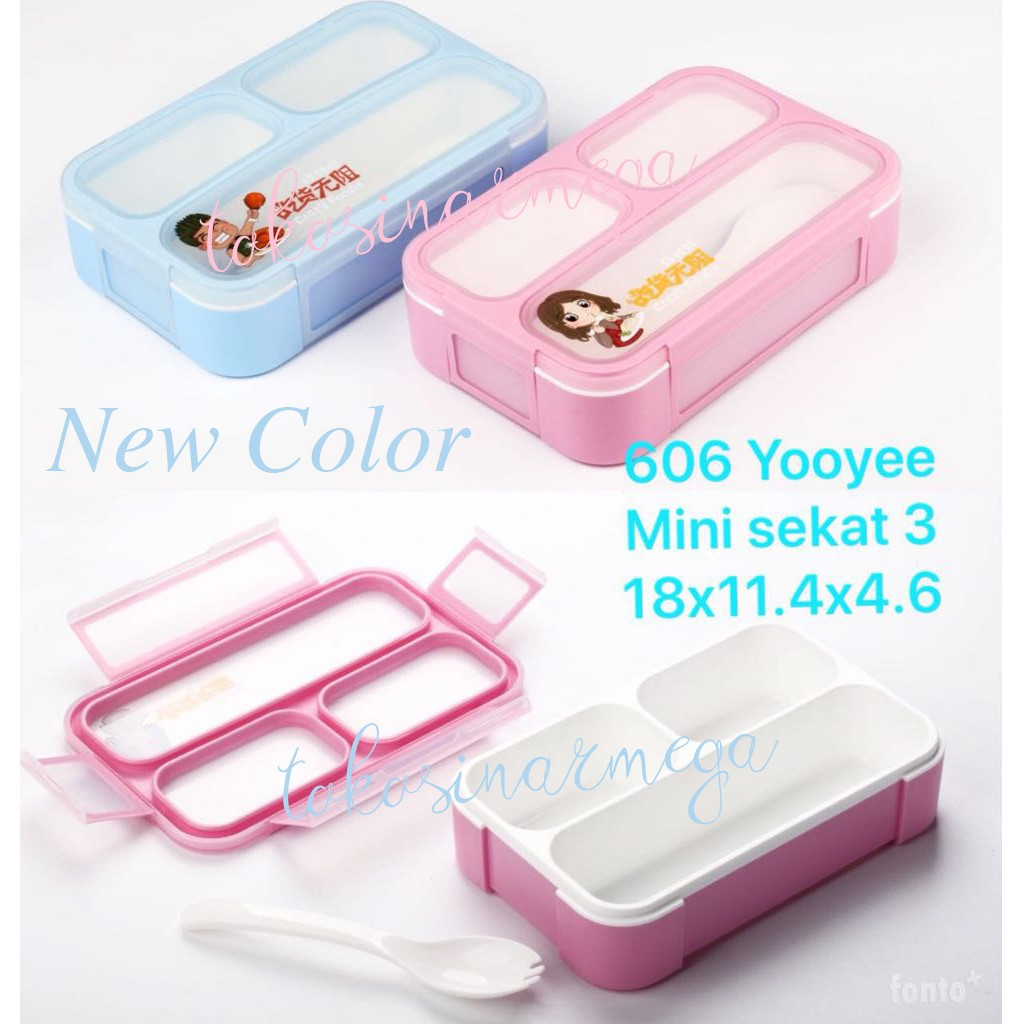 Yooyee Lunch Box 393 5 Sekat Kotak Makan 4 Sup Item 415 Bento Shopee Indonesia