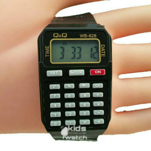 Jam Tangan Kalkulator Merk Q Q Qq Qnq Paling Murah Garansi Di Shopee Shopee Indonesia