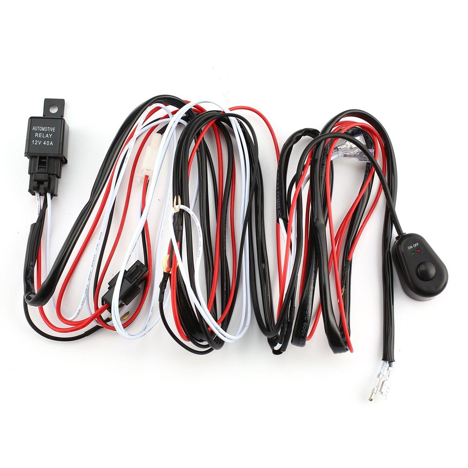 9ft 40a 12v Power Switch Relay Wiring Harness Kit For Two Led Lights