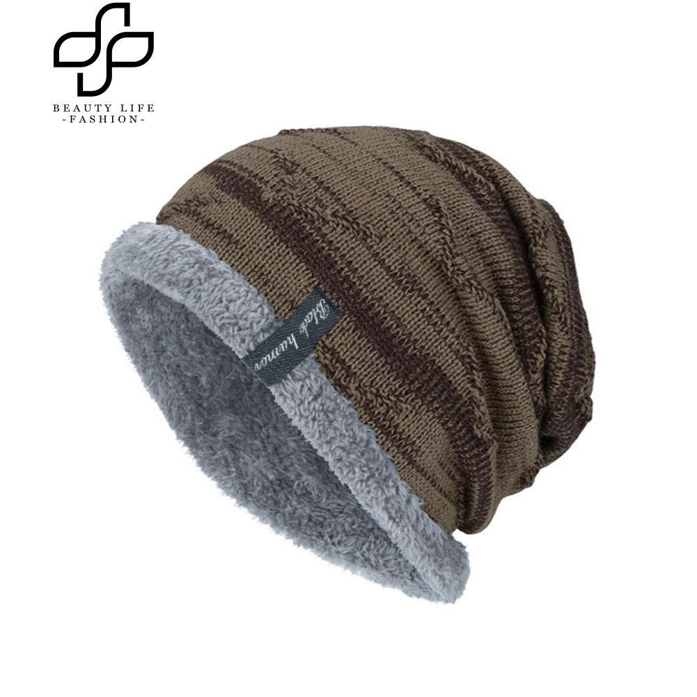 Topi Kupluk Casual Bahan Rajut Tebal Hangat Aksen Bola Plush untuk Anak Perempuan/Wanita |