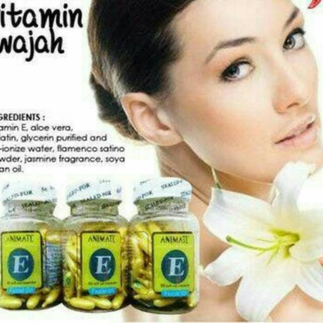 SERUM WAJAH ANIMATE E WHITENING FACIAL OIL ESSENSE USA VITAMIN WAJAH (BOTOL) - KPW-48 | Shopee Indonesia