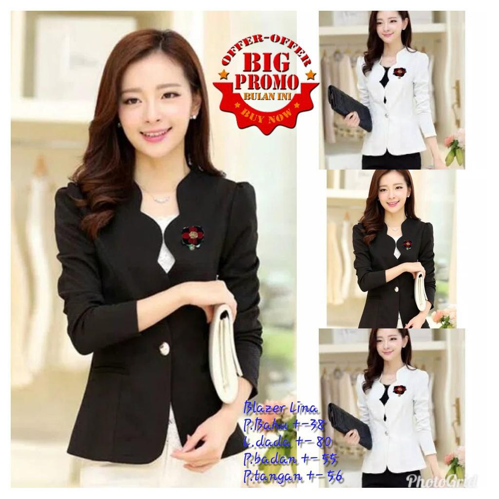 Blazer kerja wanita jas kerja blazer hitam  b11bd952a4