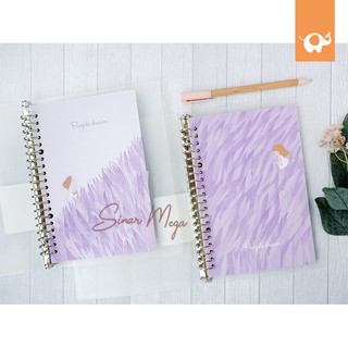 Purple Dream File Binder B5 / Loose Leaf Lucu Unik Murah