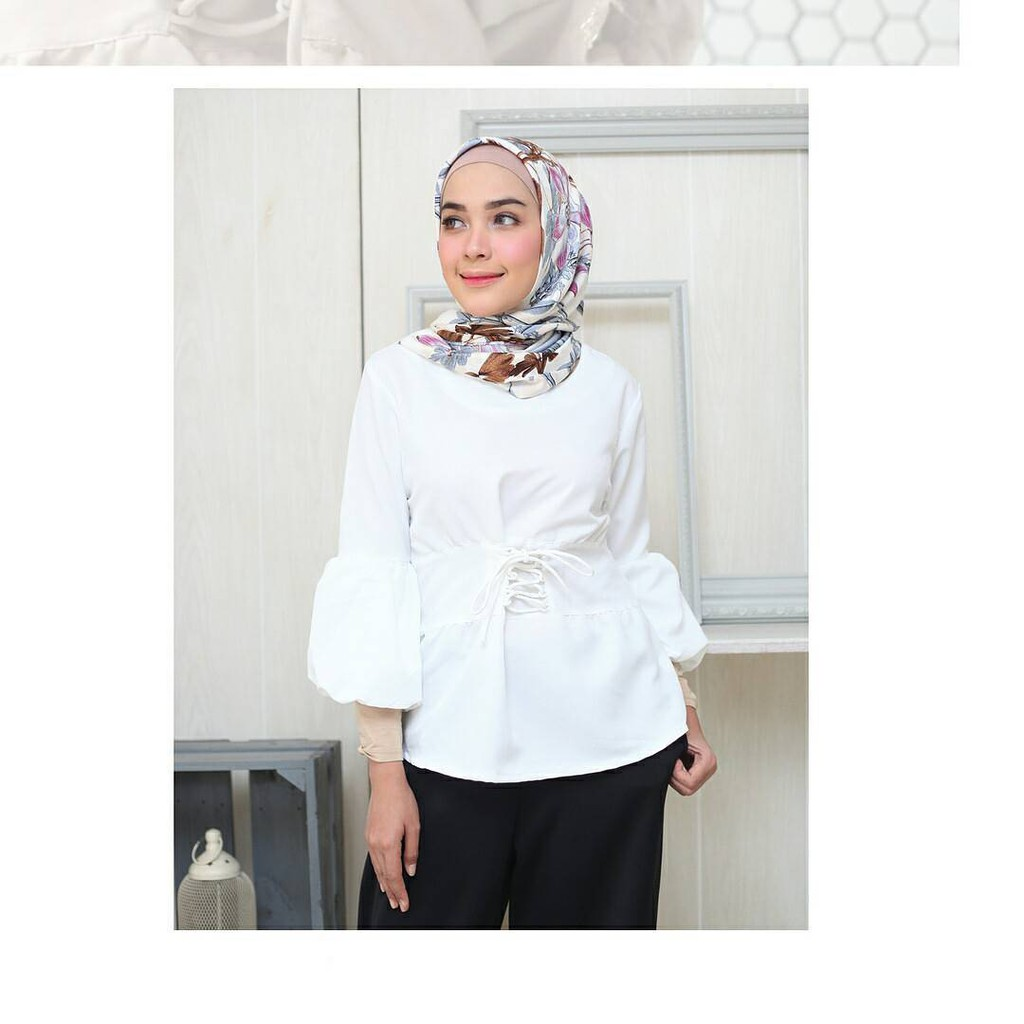 Arsyi Top Blouse Baju Blus Panjang Wanita Baju Casual Wanita Muslim Hijab  Modern Bandung 2017.  1ff011c3a7