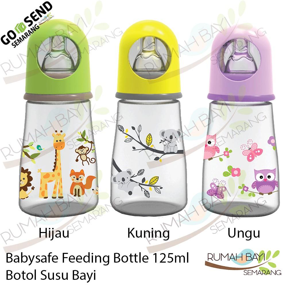 Babysafe Feeding Bottle 125 ml AP001 - Botol Susu Kepala Animals | Shopee Indonesia