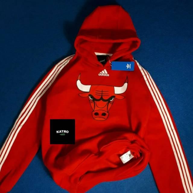 Arqueológico Notable Púrpura  Chicago Bulls x Adidas Hoodie   Shopee Indonesia