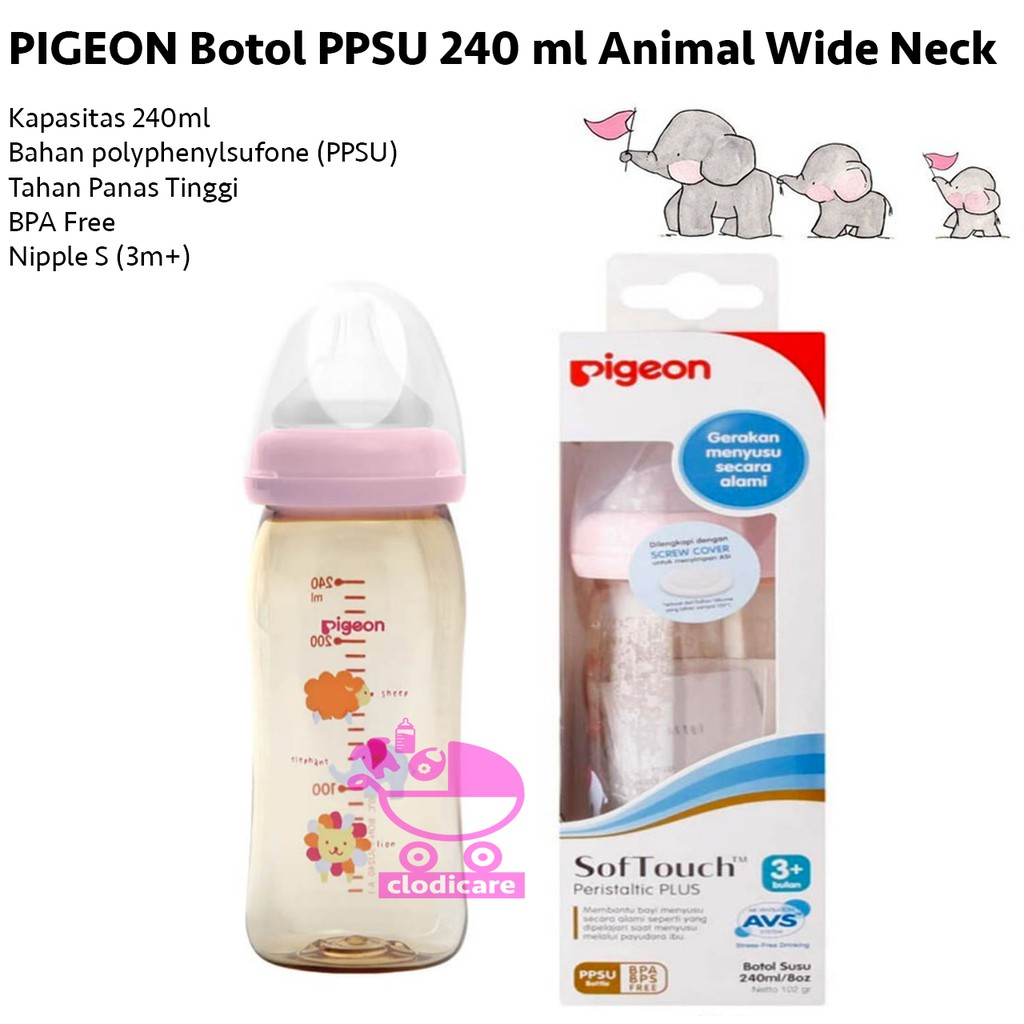 Pigeon Glass Bottle Botol Susu Bayi Gelas 120ml Nipple S Shopee Baby Karakter Peristaltic 50ml Indonesia