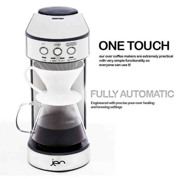 Jen Automatic Pour Over Mesin Kopi Pour Over V60 2 4cups Shopee Indonesia