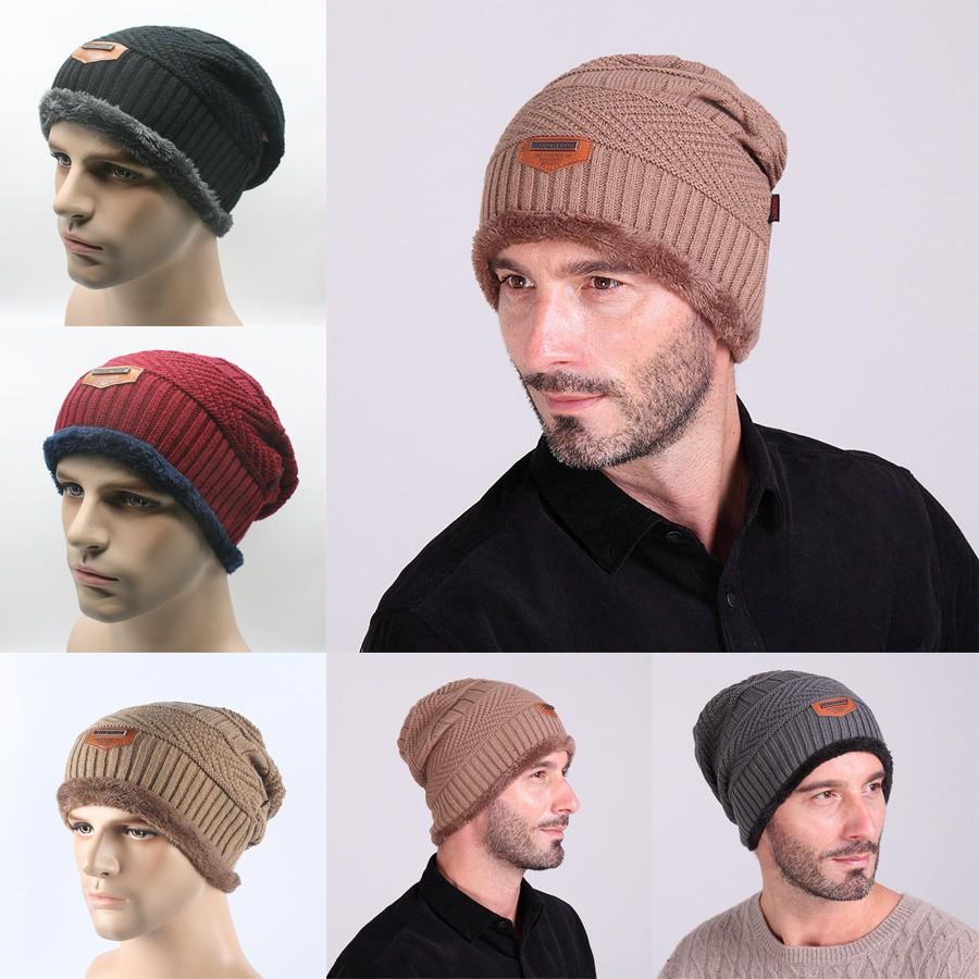Aksesoris Fashion  Topi Kupluk Model Longgar Bahan Rajut Musim Dingin untuk  Pria dan Wanita  ff6e78254d
