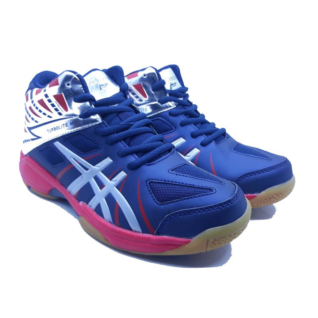 Sepatu Olahraga Volly Profesional Turbolite MD New - Navy R.blue ... 6e13831b16