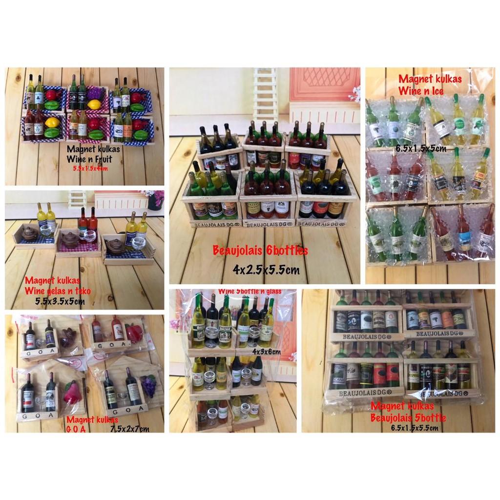 Castella77 Magnet Kulkas Minuman Wine