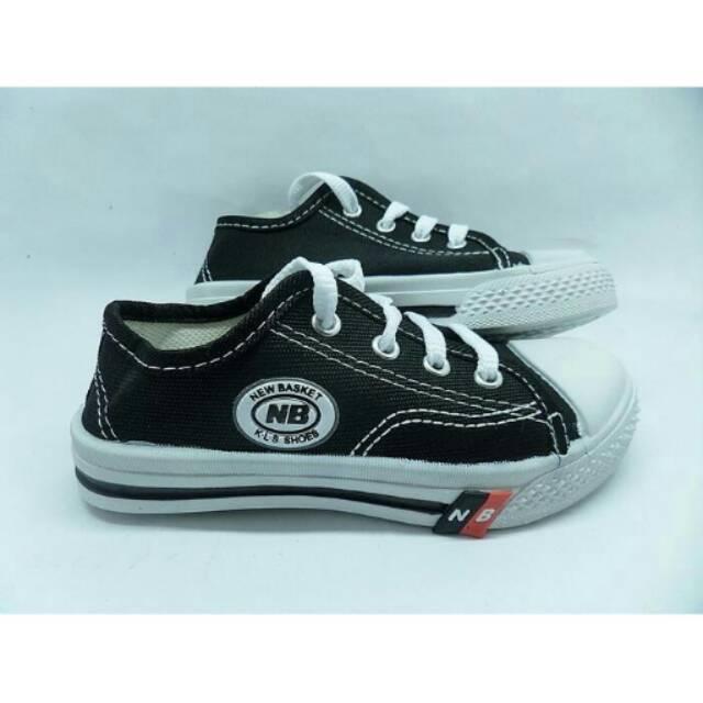 Sepatu Anak Sekolah Tk Sd Smp Warna Hitam Putih Tali Murah Ori
