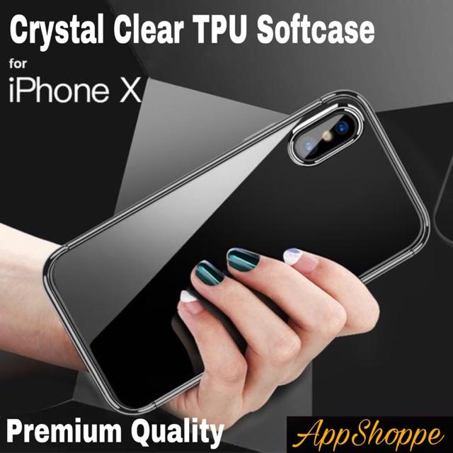 iPhone X Case Casing TPU Transparent Crystal Clear Premium Quality