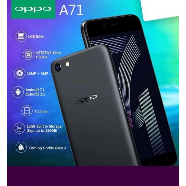 OPPO A71 SECOND FULSET!