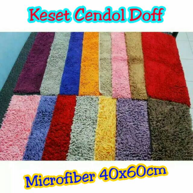 DISKON Keset Cendol Microfiber 40x60cm TEBAL, Halus, Lembut, Anti Slip Hemat 40%   Shopee Indonesia