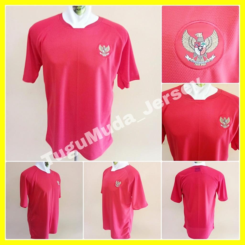 LOKAL Jersey Timnas Indonesia Home Merah Piala AFC AFF Cup 2018 Baju Kaos Jersy Jersi Bola Garuda   Shopee Indonesia