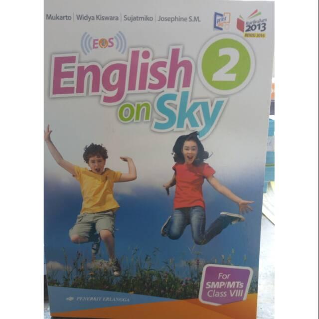 English On Sky Eos Kelas 2 Smp Mts 8 Penerbit Erlangga Kurikulum 13 Revisi Terbaru Shopee Indonesia