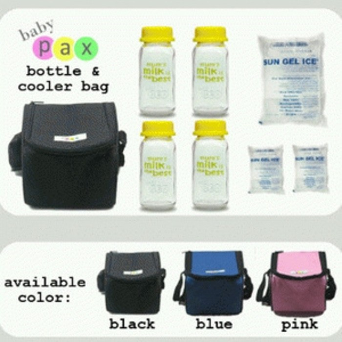 Insulated Cooler Bag Asi Botol.4 +Ice gel 3 Tas Penyimpan Asi Asip | Shopee Indonesia