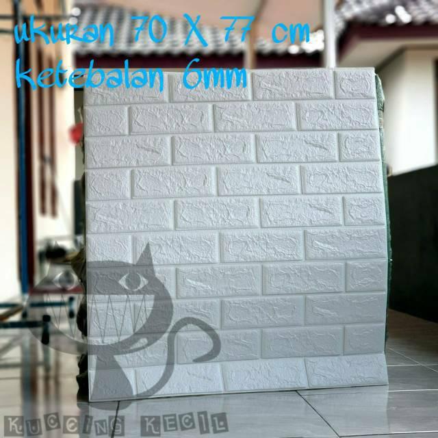 WALLPAPER 3D ZT0101 BRICK FOAM WHITE WALLPAPER DINDING