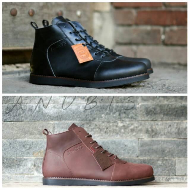 Sepatu Boots Formal Casual Pria Cowok Gaya Santai Kerja Kantor Pantofel  tinggi Kulit asli Jungle ori  3c54ecfc54