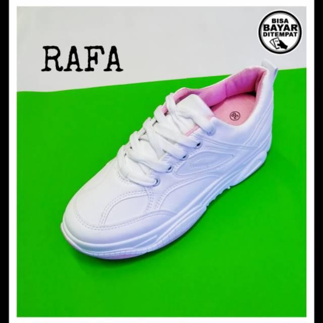 Sepatu Rafa Sepatu Sneakers Wanita Warna Putih Uk 37 S D 40