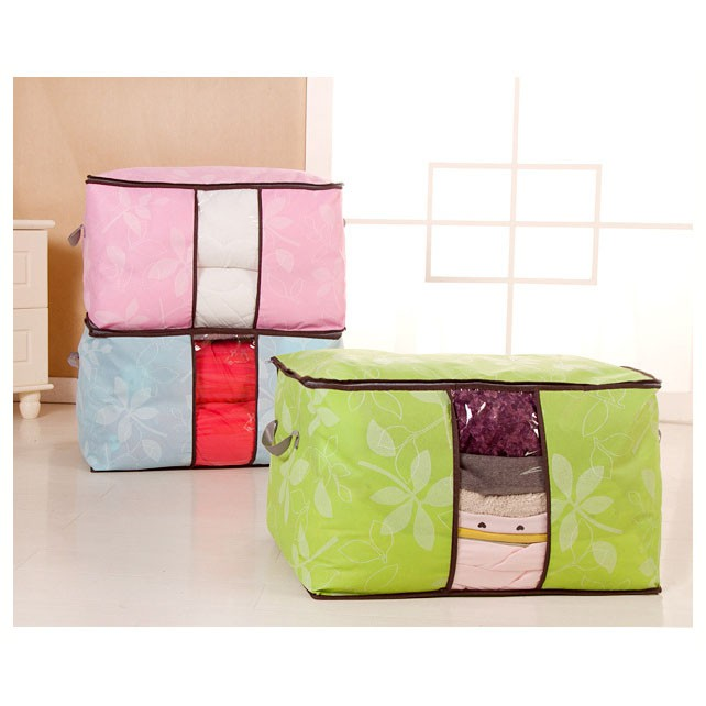 STORAGE BAG /STORAGE BOX ORGANIZER BAMBOO TEMPAT PAKAIAN LEBAR   Shopee Indonesia