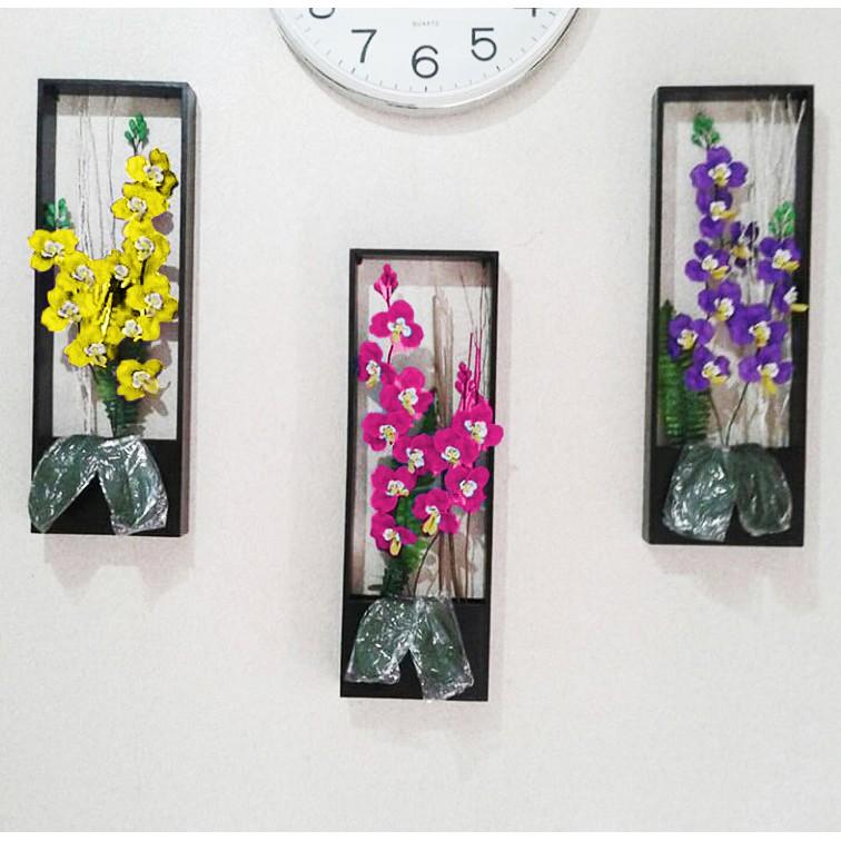 Naindo Bayar Ditempat Bunga Anggrek Akrilik Dinding Dengan Pot
