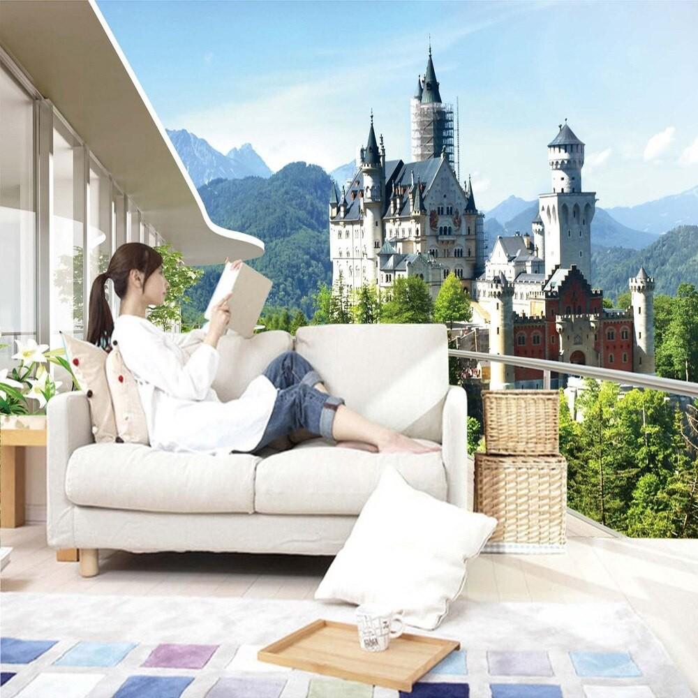Foto Kustom Wallpaper 3D Stereo Ruang Lukisan Dinding Ruang Tamu Sofa Kamar Tidur Latar Belakang