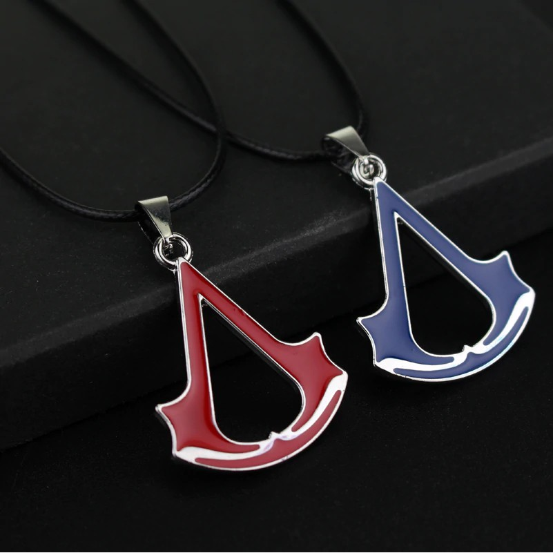 Jewelry Movie Assassins Creed Torque Necklace Pendant Blue And Red