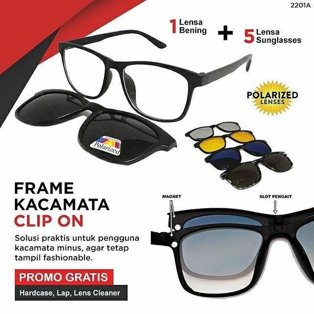 Kacamata 5 In 1 Magnet Sunglasses   Paket Kaca Mata Fashion Unisex ... 1e0f98aeee