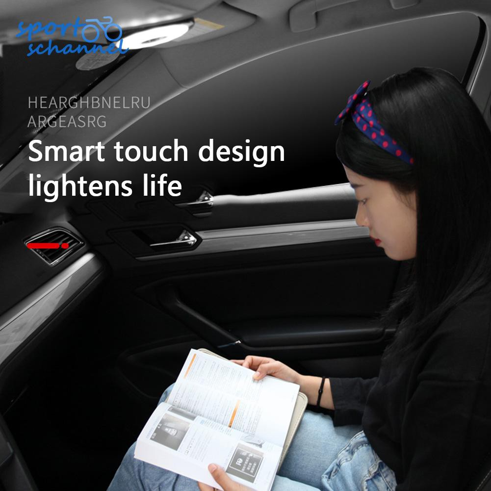 Car Led Roof Lamp Auto Interior Dome Reading Magnet Touch Usb Ceiling Light Shopee Indonesia
