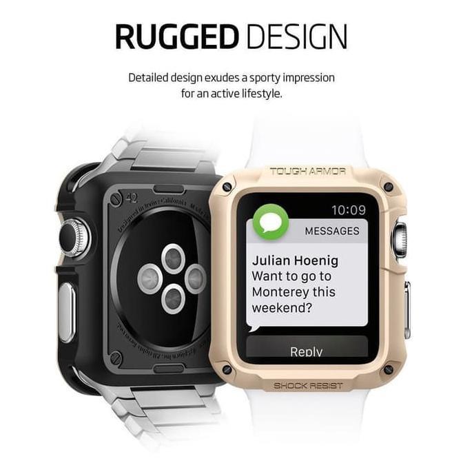 Ini Saja Spigen Tough Armor Apple Watch 1/2/3 42Mm - Champagne Gold