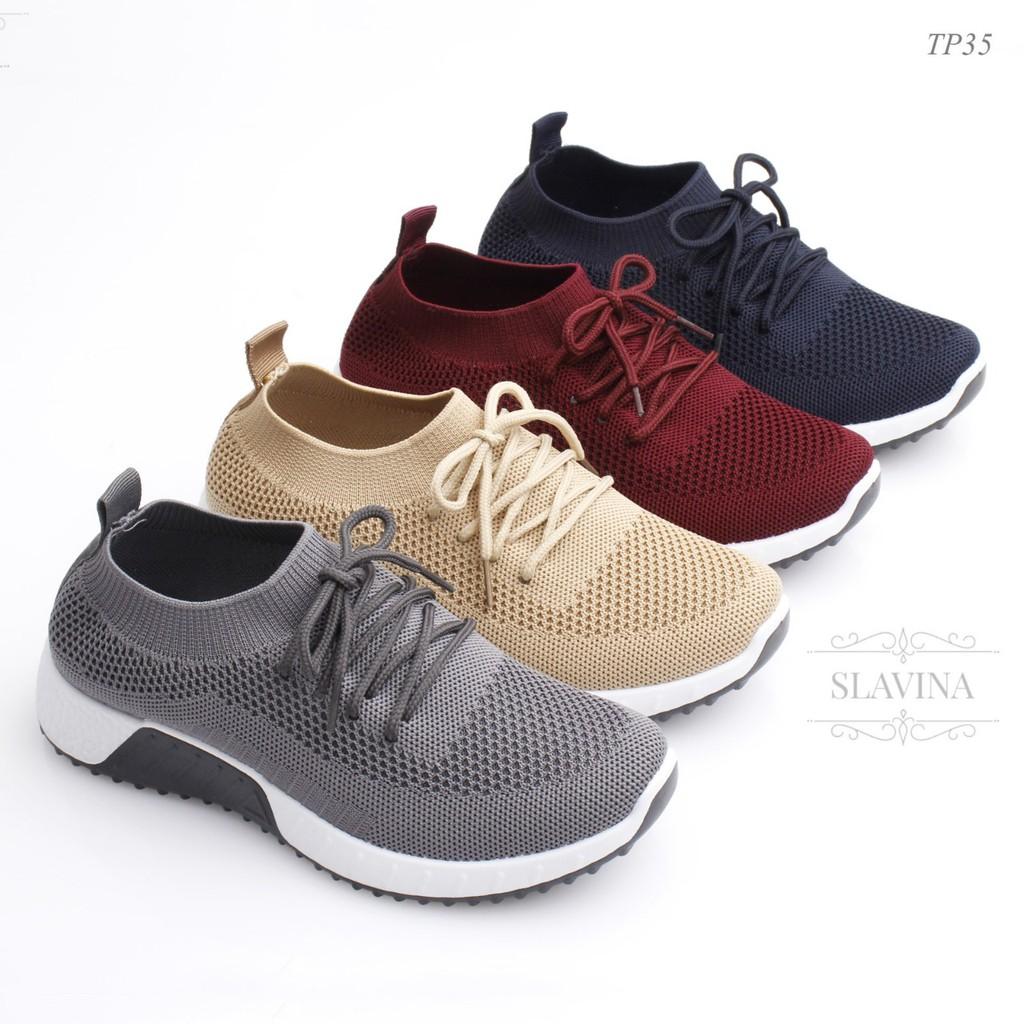 Sale Murah Sepatu Slavina Tp35 Sneaker Flyknit Tied Nmd Boost