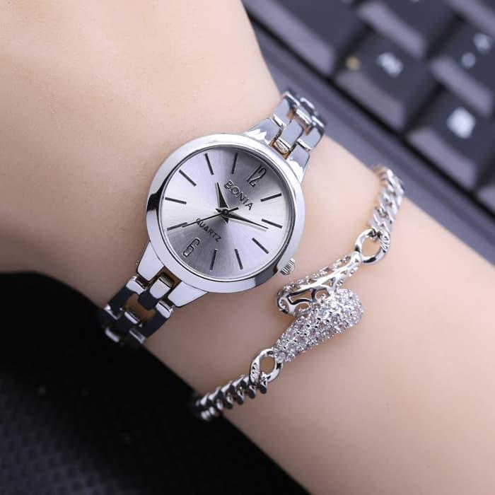 Wanita   Cewek Guess Shine Rantai Kombi Gold jam tangan wanita analog  14ad83646a