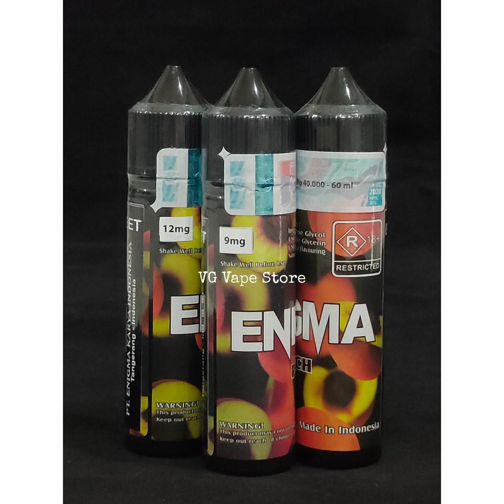 Enigma Peach MTL Freebase 60ML 9MG 12MG Premium Liquid Cukai