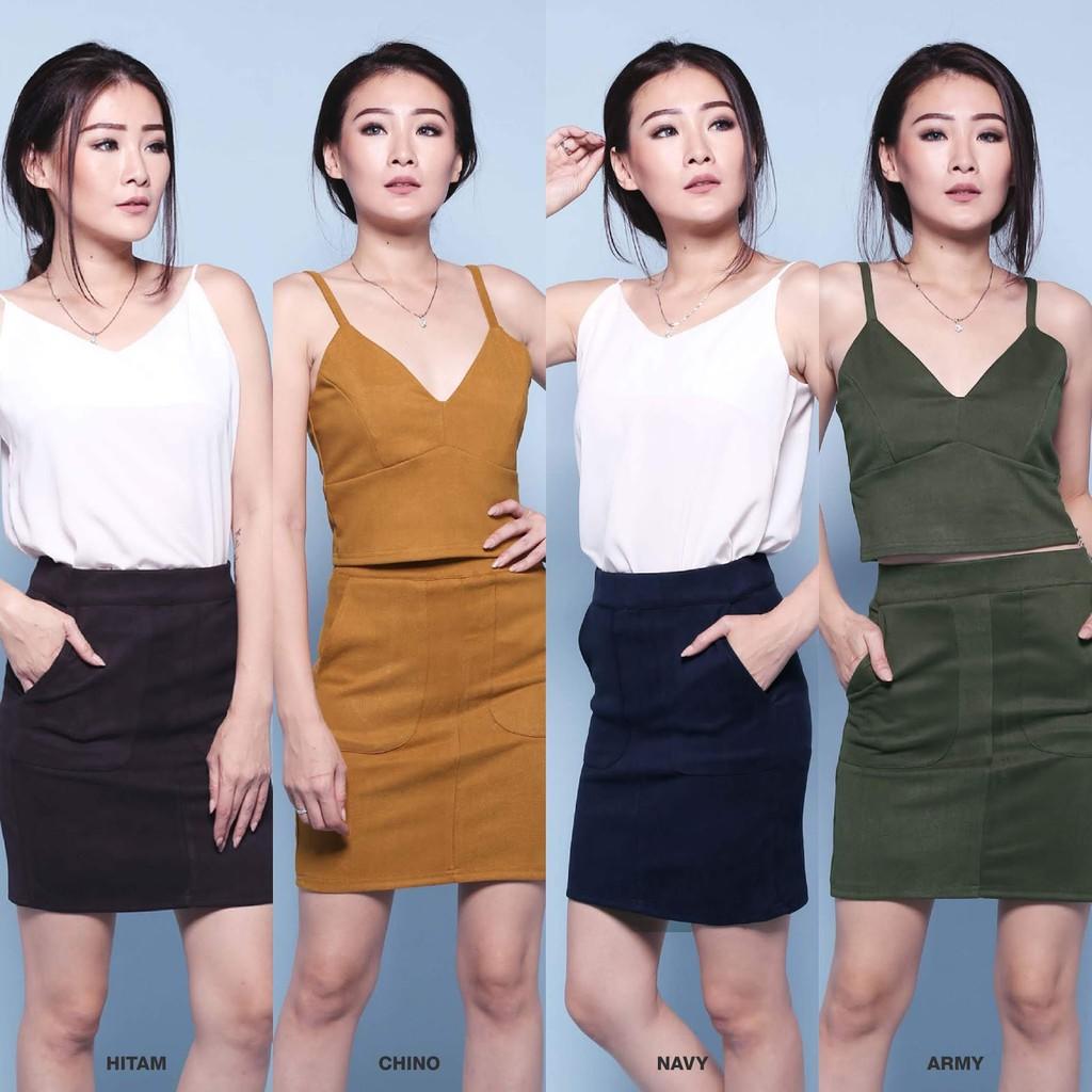 Rok Flare Skirt Panjang 40cmrk050 Dan 50cmrk100 Shopee Indonesia Midi 50cm Wanita Rk100