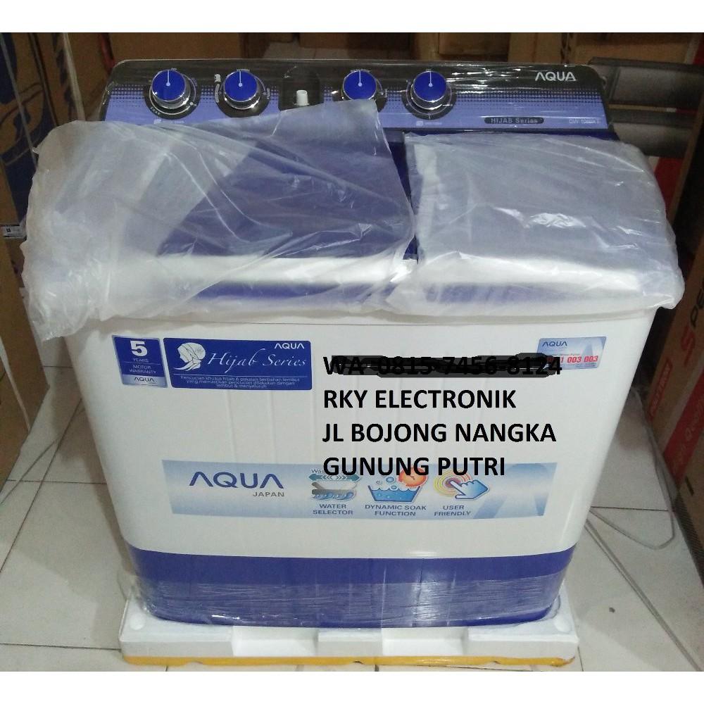 Mesin Cuci Aqua 8 Kg 2 Tabung Qw 880 Xt Hijab Series Terlaris 9kg Qw980xt Putih Free Ongkir Jabodetabek Shopee Indonesia