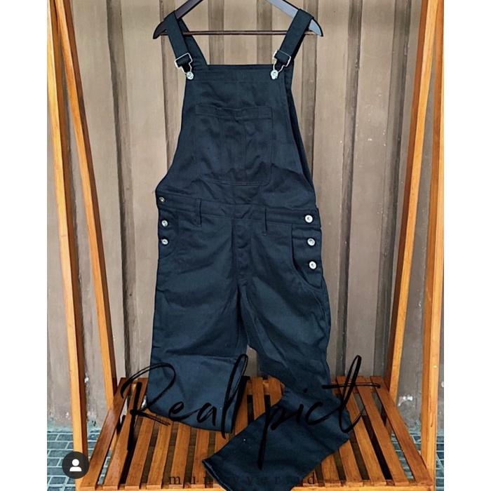 pria-jeans-overall- baju kodok celana panjang jeans hitam - 27-33 -overall-jeans-pria.