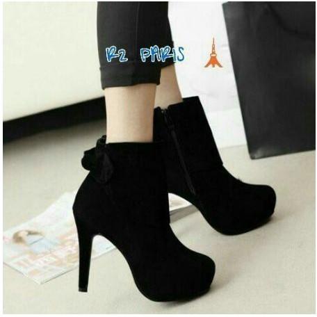 Koleksi Taobao Boots Martin Wanita Ala Inggris Sepatu Bot
