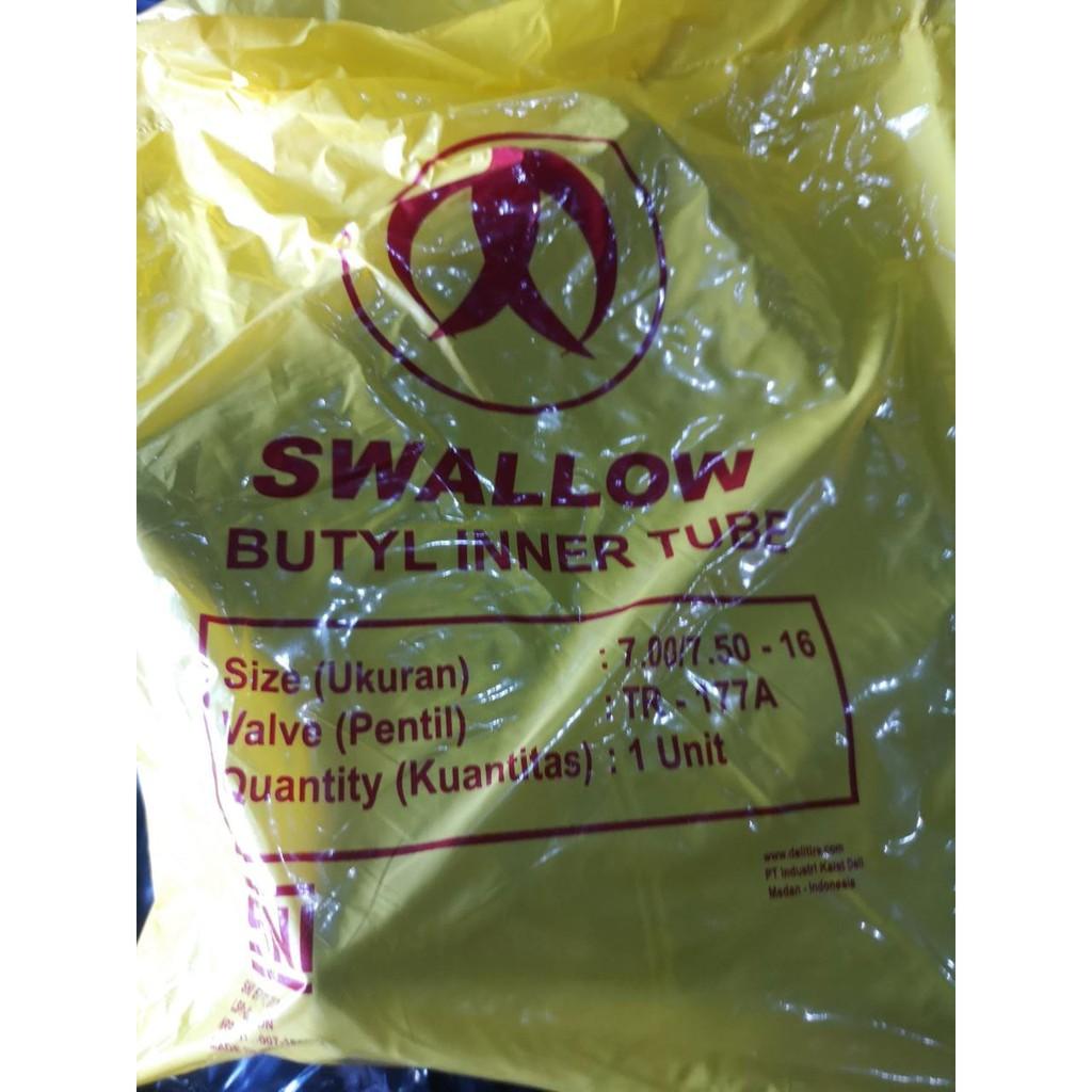 Ban dalam Mobil 700 / 750 - 16 engkel truk double Swallow inner tube SNI Baru bukan gajah tunggal